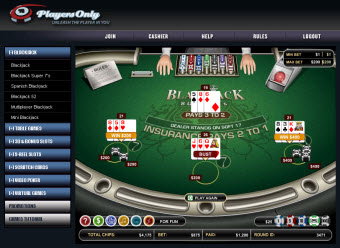 PlayersOnly Mac Blackjack game