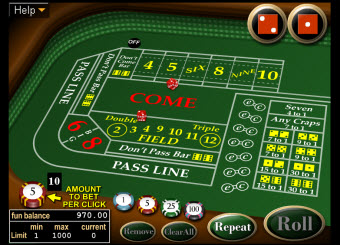 Lock Casino craps game image
