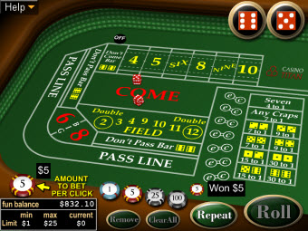 Mac Craps game at Casino Titan