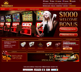 WinPalace Casino Homepage